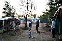 KLEINFONTEIN, SOUTH AFRICA - JULY 15: Residents in the caravan park in the all white Kleinfontein on July 15, 2013 in Kleinfontein outside Pretoria, South Africa. The all white town with about one thousand residents are all Afrikaners with a Vortrekker heritage. Only white Afrikaners who share Afrikaner culture, language and religion are allowed to settle in the town. (Photo by: Per-Anders Pettersson)