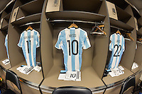 Santa Clara, CA - Monday June 06, 2016: Argentina locker room prior to a Copa America Centenario Group D match between Argentina (ARG) and Chile (CHI) at Levi's Stadium.