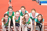 TRACK: Running in the Track and Field event at the Munster Juvenile AAI Championships at Riocht Track, Castleisland, on Saturday were the local club Riocht. Front l-r: Elaine Doody, Adrienne McEllistrim and Emer Lynch. Back were Anna Prendiville, Niamh O'Connell, Aine O'Connor and Roisin O'Connor..