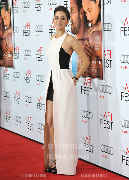 "Marion Cotillard at the AFI Fest 2012 premiere of her movie ""Rust and Bone"" at Grauman's Chinese Theatre, Hollywood..November 5, 2012  Los Angeles, CA.Picture: Paul Smith / Featureflash"
