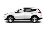 Car Driver side profile view of a 2018 Toyota RAV4 XLE 5 Door SUV Side View