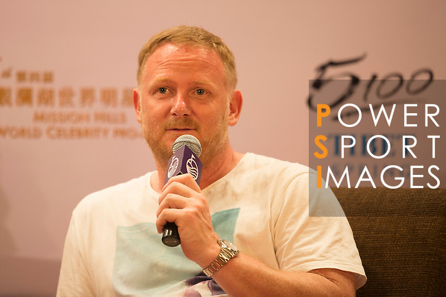 David May during the Football Players Press Conference on the sidelines of the World Celebrity Pro-Am 2016 Mission Hills China Golf Tournament on 22 October 2016, in Haikou, China. Photo by Marcio Machado / Power Sport Images