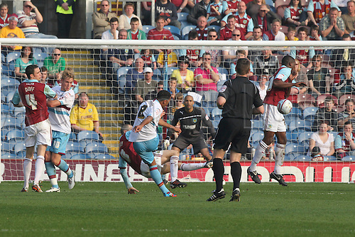 24.03.2012, Burnley England. Burnley v West Ham. Nicky Maynard shoots during the NPower Championship game played at Turf Moor.