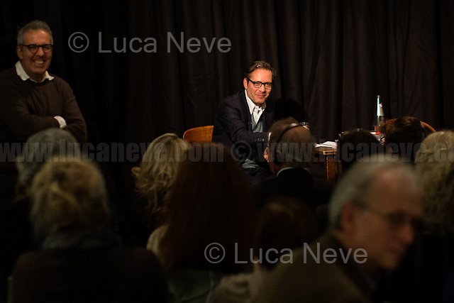 (From L to R) Marco Delogu &amp; Massimo Recalcati. <br />