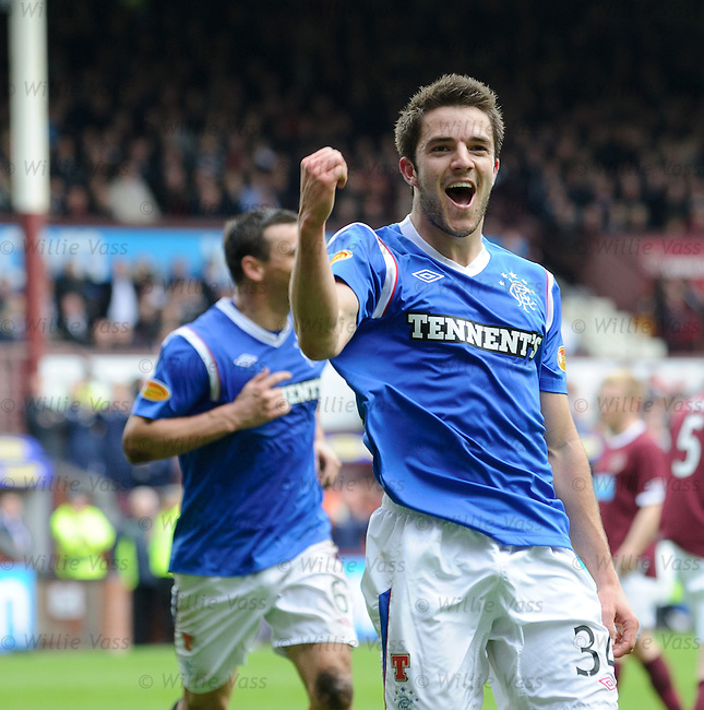 Andy Little celebrates his goal