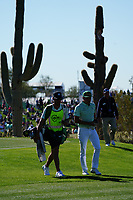Rickie Fowler (USA) In action during the third round of the Waste Management Phoenix Open, TPC Scottsdale, Phoenix, USA. 31/01/2020<br /> Picture: Golffile | Phil INGLIS<br /> <br /> <br /> All photo usage must carry mandatory copyright credit (© Golffile | Phil Inglis)