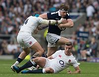 Twickenham, United Kingdom.  Hamish WATSON, running with the ball during the Six Nations International Rugby, Calcutta Cup Game, England vs Scotland, RFU Stadium, Twickenham, England, <br /> <br /> Saturday  11/03/2017<br /> <br /> [Mandatory Credit; Peter Spurrier/Intersport-images]