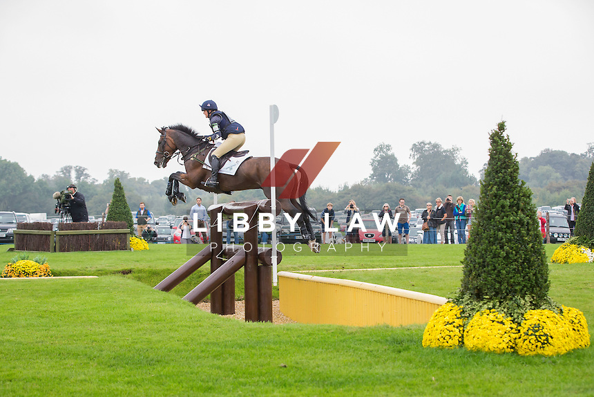 GBR-Piggy French (JAKATA) INTERIM-12TH: CCI4* CROSS COUNTRY: 2014 GBR-Land Rover Burghley Horse Trial (Saturday 6 September) CREDIT: Libby Law COPYRIGHT: LIBBY LAW PHOTOGRAPHY - NZL