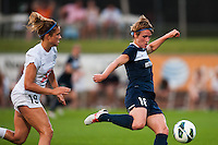 Sky Blue FC midfielder Sophie Schmidt (16). Sky Blue FC and FC Kansas City played to a 2-2 tie during a National Women's Soccer League (NWSL) match at Yurcak Field in Piscataway, NJ, on June 26, 2013.