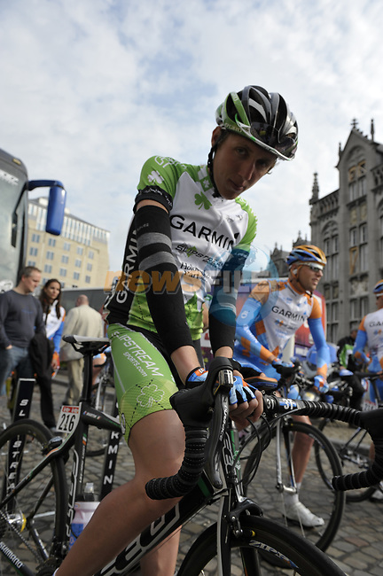 Daniel Martin (IRL) Garmin Slipstream before the start of the 95th running of Liege-Bastogne-Liege cycle race, 26th April 2009 (Photo by Eoin Clarke/NEWSFILE)