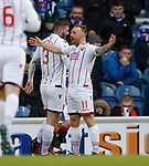 Craig Curran celebrates his goal for Ross County