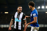 Newcastle United's Jamaal Lascelles has words with Everton's Dominic Calvert-Lewin<br /> <br /> Photographer Alex Dodd/CameraSport<br /> <br /> The Premier League - Everton v Newcastle United  - Tuesday 21st January 2020 - Goodison Park - Liverpool<br /> <br /> World Copyright © 2020 CameraSport. All rights reserved. 43 Linden Ave. Countesthorpe. Leicester. England. LE8 5PG - Tel: +44 (0) 116 277 4147 - admin@camerasport.com - www.camerasport.com