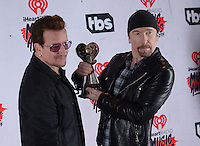 U2 Bono + The Edge @ the 2016 iHeart Radio Music awards held @ the Forum.<br /> April 3, 2016