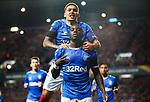 19.09.2019 Rangers v Feyenoord: Sheyi Ojo celebrates his goal with James Tavernier
