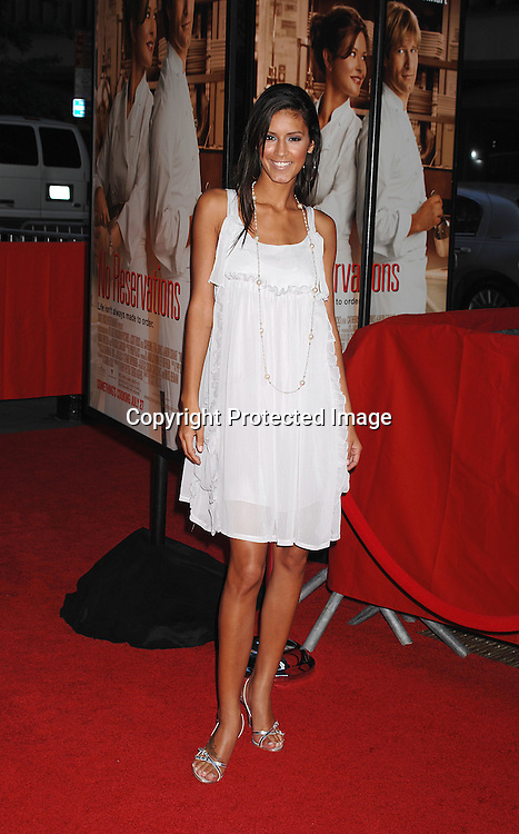 "Jaslene Gonzalez..posing for photographers at The New York Premiere of ..""No Reservations"" starring Catherine Zeta-Jones and Aaron Eckhart on July 25, 2007 at The Ziegfeld Theatre in New York. ..Robin Platzer, Twin Images....212-935-0770"