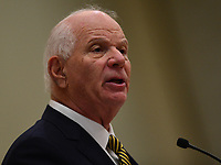 Baltimore, MD - July 24, 2017: U.S. Senator Ben Cardin speaks at the Federal Policy Legislative Workshop during the 108th Convention of the NAACP in Baltimore, MD, July 24, 2017  (Photo by Don Baxter/Media Images International)