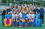 UTRECHT -   Kampong Dames I , seizoen 2019/2020. teamfoto met mascotte Klappie.  voor: keeper Ayeisha McFerron (Kampong) , Nee van Laarhoven (Kampong) , Malou Pheninckx (Kampong) , Margot Zuidhof (Kampong) ,  Chiara Tiddi (Kampong) , Elsie Nix (Kampong) , keeper Inge Dijkstra (Kampong) . midden: fysio Amarins Bottema, coach Michiel van der Struijk (Kampong) , Jutta van Crevel (Kampong) , Marieke van der Vis (Kampong) , Mabel Brands (Kampong) , Pam Imhof (Kampong) , Gabrielle Mosch (Kampong) , manager Marielle de Vuijst-Hoogendoorn (Kampong) ,assistent-coach Pieter Bos (Kampong) en looptrainer Emiel Mellaard. boven: Anna van den Putten (Kampong) , Anna Fenne (Kampong) ,Lisa Gerritsen (Kampong) , Michelle Simons (Kampong) ,Tessa Schoenaker (Kampong) , Carlijn Tukkers (Kampong) , Luna Fokke (Kampong) , Carmen Wijsman (Kampong). COPYRIGHT KOEN SUYK