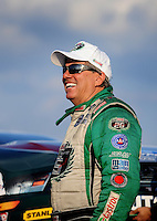 Sept. 17, 2010; Concord, NC, USA; NHRA funny car driver John Force during qualifying for the O'Reilly Auto Parts NHRA Nationals at zMax Dragway. Mandatory Credit: Mark J. Rebilas/