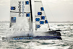 Armel Le Cl&eacute;ac'h and Kevin Escoffier from the Banque Populaire Sailing Team and the Flying Phantom.<br />