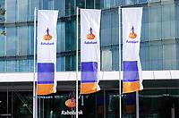 Nederland Utrecht 2018.  Vlaggen bij de Rabobank. Foto Berlinda van Dam / Hollandse Hoogte