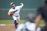 Winston-Salem Dash relief pitcher Kyle Kubat (1) in action against the Salem Red Sox at BB&T Ballpark on April 22, 2018 in Winston-Salem, North Carolina.  The Red Sox defeated the Dash 6-4 in 10 innings.  (Brian Westerholt/Four Seam Images)