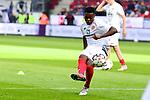 Einspielen Der Mainzer Gaetan Bussmann<br />  beim Spiel in der Fussball Bundesliga, 1. FSV Mainz 05 - Hertha BSC.<br /> <br /> Foto &copy; PIX-Sportfotos *** Foto ist honorarpflichtig! *** Auf Anfrage in hoeherer Qualitaet/Aufloesung. Belegexemplar erbeten. Veroeffentlichung ausschliesslich fuer journalistisch-publizistische Zwecke. For editorial use only.