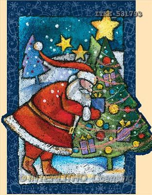 Isabella, CHRISTMAS SANTA, SNOWMAN, paintings(ITKE531793,#X#) Weihnachtsmänner, Schneemänner, Weihnachen, Papá Noel, muñecos de nieve, Navidad, illustrations, pinturas