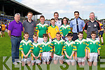 The Boherbue NS team that played in the Killarney Garda National School football blitz in Fitzgerald Stadium on Monday front row l-r: Matthew Scannell, Anthony O'Connor, ben Guiney, BJ Dunstan, Aidan Lenihan, Senan Murphy, Lee Deaver. Back row: Gerald Lenihan, Colm Cooper, Donal Casey, Liam Moynihan, Garda Eddie Walsh, Tomás Sheehan, Garda Aidan O'Mahony and Garda Declan Kelly