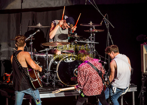 LAS VEGAS, NV - July 31 : The Vamps performs at The Joint at Hard Rock Hotel &amp; Casino in Las Vegas, NV on July 31, 2014.  Credit:   ***HOUSE COVERAGE***<br /> CAP/MPI/RTNKabik<br /> &copy;RTNKabik/MediaPunch/Capital Pictures