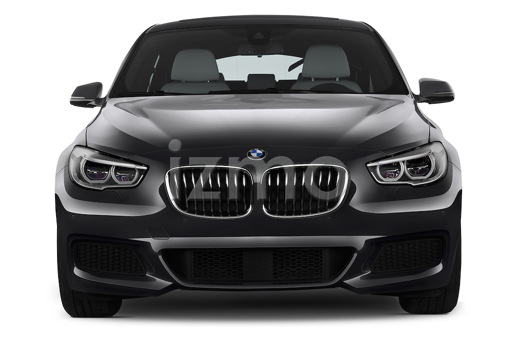 Car photography straight front view of a2015 BMW SERIES 5 M Sport 2WD AT 5 Door Hatchback 2WD Front View