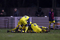 Joshua Osude of Hashtag United is congratulated after scoring the first goal during Walthamstow vs Hashtag United, Essex Senior League Football at Wadham Lodge Sports Ground on 30th November 2019