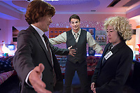Oh Lucy! (2017)<br /> Josh Hartnett, Shinobu Terajima, and Koji Yakusho<br /> *Filmstill - Editorial Use Only*<br /> CAP/KFS<br /> Image supplied by Capital Pictures
