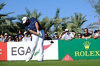 Shane Lowry (IRL) on the 14th tee during the 2nd round of the Abu Dhabi HSBC Championship, Abu Dhabi Golf Club, Abu Dhabi,  United Arab Emirates. 17/01/2020<br /> Picture: Fran Caffrey   Golffile<br /> <br /> <br /> All photo usage must carry mandatory copyright credit (© Golffile   Fran Caffrey)