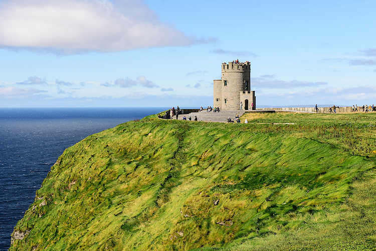 A view of the landscape facing the Cliffs of Moher, on the west coast of Ireland