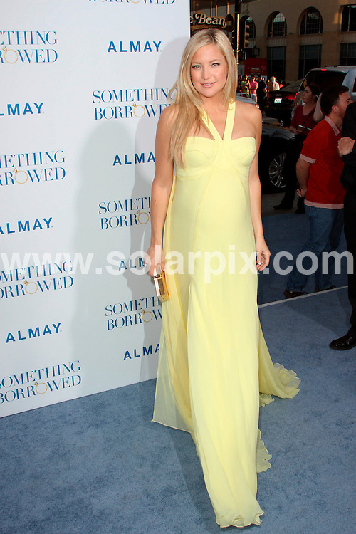 "**ALL ROUND PICTURES FROM SOLARPIX.COM**                                             **SYNDICATION RIGHTS FOR UK, AUSTRALIA, DENMARK, PORTUGAL, S. AFRICA, SPAIN & DUBAI (U.A.E) & ASIA (EXCLUDING JAPAN) ONLY**                                                                                   Arrivals for ""Something Borrowed"" Los Angeles Premiere at the Grauman's Chinese Theatre, Hollywood, CA, USA                                                               .This pic:     Kate Hudson                                                                                        JOB REF:    13260    PHZ Evans       DATE:   04.05.11                                                         **MUST CREDIT SOLARPIX.COM OR DOUBLE FEE WILL BE CHARGED**                                                                      **MUST AGREE FEE BEFORE ONLINE USAGE**                               **CALL US ON: +34 952 811 768 or LOW RATE FROM UK 0844 617 7637**"