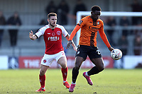 Lewis Coyle of Fleetwood Town and David Tutonda of Barnet during Barnet vs Fleetwood Town, Emirates FA Cup Football at the Hive Stadium on 10th November 2019