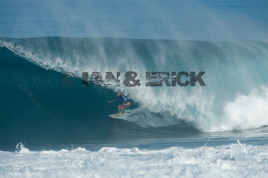 Gavin Beschen (USA) at Backdoor on the Northshore of Oahu in Hawaii.