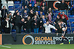 Ross County v St Johnstone....04.01.14   SPFL<br /> Richie Brittain still getting abuse from saints fans<br /> Picture by Graeme Hart.<br /> Copyright Perthshire Picture Agency<br /> Tel: 01738 623350  Mobile: 07990 594431