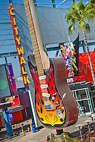 Neon Guitar, Hard Rock Cafe, Universal City, CA,  Citywalk,  Universal studios, holiday,  travel, us, usa, vacation,