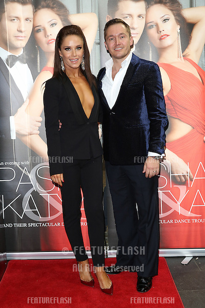 Katya Virshilas, husband Klaus Kongsdal at the Katya and Pasha West End show - Gala night held at the Lyric Theatre, London. 07/04/2014 Picture by: Henry Harris / Featureflash