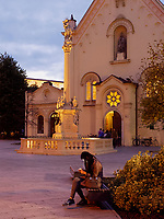 Kapuzinerkirche und Mariens&auml;ule in Bratislava, Bratislavsky kraj, Slowakei, Europa<br /> Capuchin's church and Marian column, Bratislava, Bratislavsky kraj, Slovakia, Europe