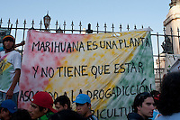 Thousands of people marched today in Buenos Aires demanding the legalization of marihuana and changes in drug policies. The march, which is performed in Argentina since 2006, was part of the Global Marihuana March, realized in over 200 cities around the world. Buenos Aires, Argentina. 05/05/2012