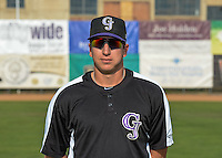 Parker French (33) of the Grand Junction Rockies poses for a photo before the game against the Ogden Raptors in Pioneer League action at Lindquist Field on July 6, 2015 in Ogden, Utah. Ogden defeated Grand Junction 8-7.(Stephen Smith/Four Seam Images)