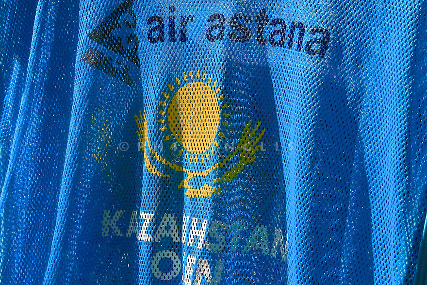 Caddie bibs during the final round of the Kazakhstan Open played at Zhailjau Golf Resort, Almaty on September 16, 2012 in Almaty, Kazakhstan.(Picture Credit / Phil Inglis)
