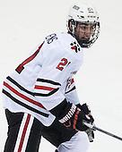 Nolan Stevens (NU - 21) - The visiting University of Vermont Catamounts defeated the Northeastern University Huskies 6-2 on Saturday, October 11, 2014, at Matthews Arena in Boston, Massachusetts.