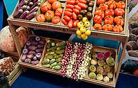 Nederland - Amsterdam - Januari 2020. HORECAVA. Van Gelder. Kistjes met diverse groenten en fruit . Foto Berlinda van Dam / Hollandse Hoogte