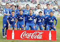 Getafe's team photo during La Liga match. February 16, 2013. (ALTERPHOTOS/Alvaro Hernandez) /Nortephoto