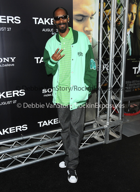 Snoop Dogg at the Screen Gems' World Premiere of Takers held at The Arclight Theatre in Hollywood, California on August 04,2010                                                                               © 2010 Debbie VanStory / Hollywood Press Agency