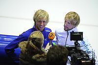 SCHAATSEN: HEERENVEEN: IJsstadion Thialf, Team Beslist.nl, Ronald en Michel Mulder,<br /> &copy;foto Martin de Jong