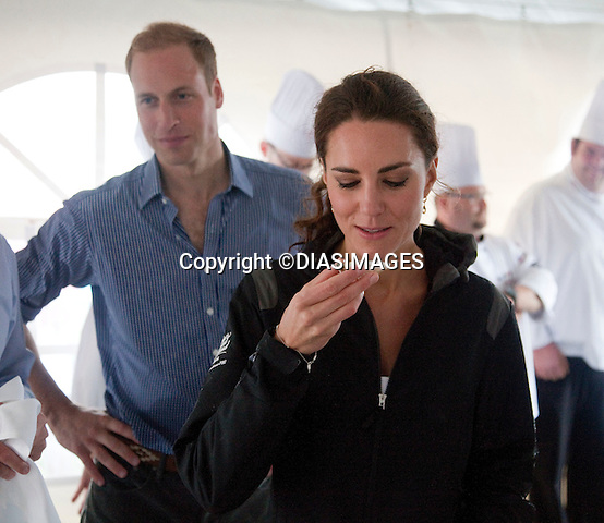 """PRINCE WILLIAM & KATE.try oyster and other local produce, Dalvey Lake, Dalvey-by-Sea, Prince Edward Island_04/07/2011.Mandatory Credit Photo: ©DIASIMAGES..**ALL FEES PAYABLE TO: """"NEWSPIX INTERNATIONAL""""**.No UK Sales usage until 01/08/2011.IMMEDIATE CONFIRMATION OF USAGE REQUIRED:.DiasImages, 31a Chinnery Hill, Bishop's Stortford, ENGLAND CM23 3PS.Tel:+441279 324672  ; Fax: +441279656877.Mobile:  07775681153.e-mail: info@newspixinternational.co.uk"""